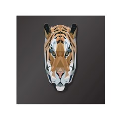 Tiger Face Animals Wild Small Satin Scarf (square)
