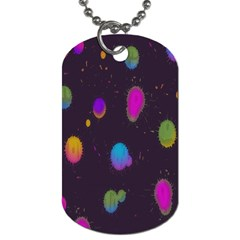 Spots Bright Rainbow Color Dog Tag (two Sides) by Alisyart