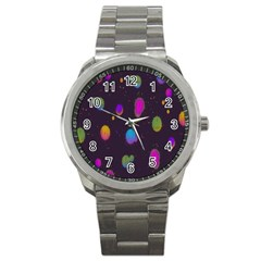 Spots Bright Rainbow Color Sport Metal Watch