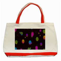 Spots Bright Rainbow Color Classic Tote Bag (red) by Alisyart