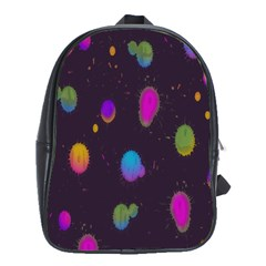 Spots Bright Rainbow Color School Bags(large)