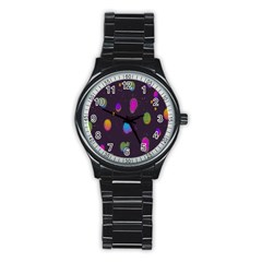 Spots Bright Rainbow Color Stainless Steel Round Watch by Alisyart