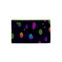 Spots Bright Rainbow Color Cosmetic Bag (xs)