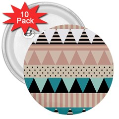 Triangle Wave Chevron Grey 3  Buttons (10 Pack)  by Alisyart
