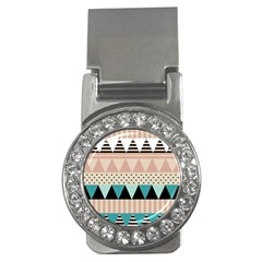 Triangle Wave Chevron Grey Money Clips (cz)