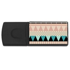 Triangle Wave Chevron Grey Usb Flash Drive Rectangular (4 Gb)