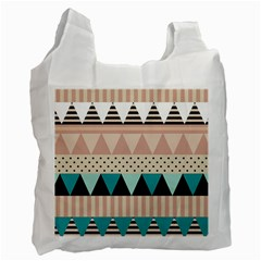 Triangle Wave Chevron Grey Recycle Bag (two Side)  by Alisyart