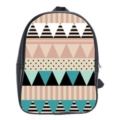 Triangle Wave Chevron Grey School Bags(large)