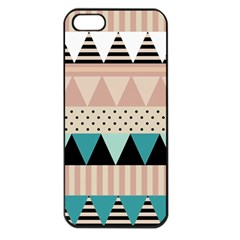 Triangle Wave Chevron Grey Apple Iphone 5 Seamless Case (black) by Alisyart