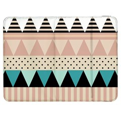 Triangle Wave Chevron Grey Samsung Galaxy Tab 7  P1000 Flip Case