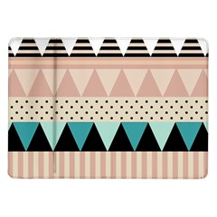 Triangle Wave Chevron Grey Samsung Galaxy Tab 10 1  P7500 Flip Case