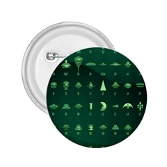Ufo Alien Green 2 25  Buttons