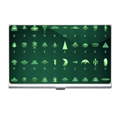 Ufo Alien Green Business Card Holders