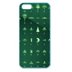 Ufo Alien Green Apple Seamless Iphone 5 Case (color)