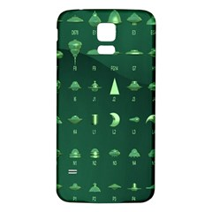 Ufo Alien Green Samsung Galaxy S5 Back Case (white)