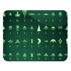 Ufo Alien Green Double Sided Flano Blanket (large)  by Alisyart