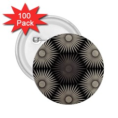 Sunflower Black White 2 25  Buttons (100 Pack)