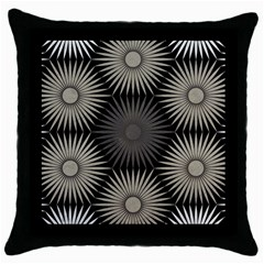 Sunflower Black White Throw Pillow Case (black)