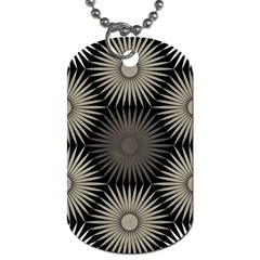 Sunflower Black White Dog Tag (one Side) by Alisyart