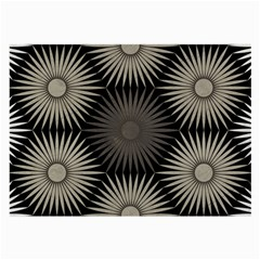 Sunflower Black White Large Glasses Cloth