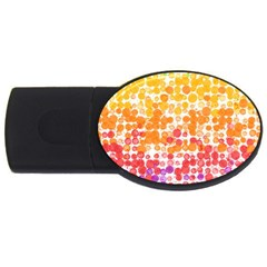 Spots Paint Color Green Yellow Pink Purple Usb Flash Drive Oval (2 Gb) by Alisyart