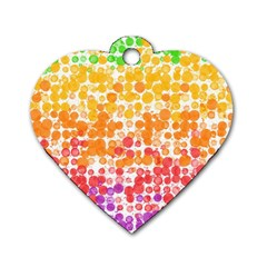 Spots Paint Color Green Yellow Pink Purple Dog Tag Heart (one Side) by Alisyart