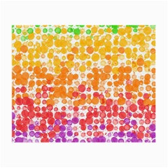 Spots Paint Color Green Yellow Pink Purple Small Glasses Cloth (2 Side)