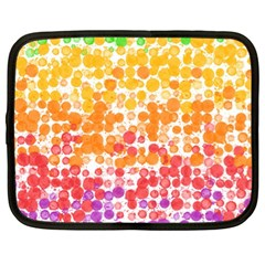 Spots Paint Color Green Yellow Pink Purple Netbook Case (xl)
