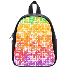 Spots Paint Color Green Yellow Pink Purple School Bags (small)  by Alisyart