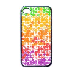 Spots Paint Color Green Yellow Pink Purple Apple Iphone 4 Case (black) by Alisyart