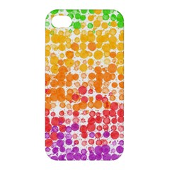 Spots Paint Color Green Yellow Pink Purple Apple Iphone 4/4s Premium Hardshell Case