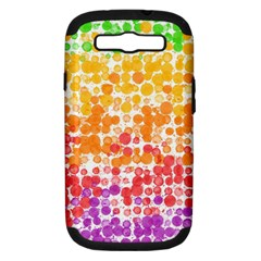 Spots Paint Color Green Yellow Pink Purple Samsung Galaxy S Iii Hardshell Case (pc+silicone) by Alisyart