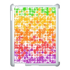 Spots Paint Color Green Yellow Pink Purple Apple Ipad 3/4 Case (white)