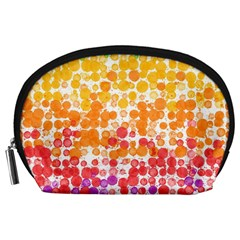 Spots Paint Color Green Yellow Pink Purple Accessory Pouches (large)