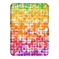 Spots Paint Color Green Yellow Pink Purple Samsung Galaxy Tab 4 (10 1 ) Hardshell Case  by Alisyart