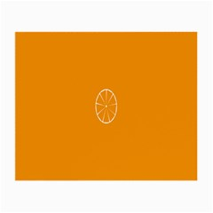 Lime Orange Fruit Fres Small Glasses Cloth (2 Side) by Alisyart