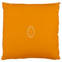 Lime Orange Fruit Fres Standard Flano Cushion Case (two Sides)