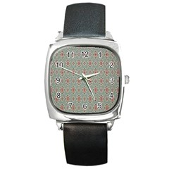 Vintage Floral Tumblr Quotes Square Metal Watch