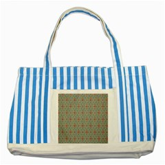 Vintage Floral Tumblr Quotes Striped Blue Tote Bag by Alisyart