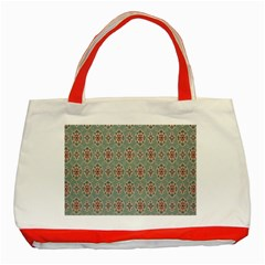 Vintage Floral Tumblr Quotes Classic Tote Bag (red) by Alisyart