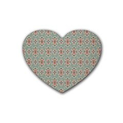 Vintage Floral Tumblr Quotes Rubber Coaster (heart)  by Alisyart