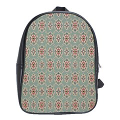 Vintage Floral Tumblr Quotes School Bags(large)