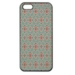 Vintage Floral Tumblr Quotes Apple iPhone 5 Seamless Case (Black) Front