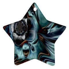 Light Color Floral Grey Star Ornament (two Sides) by Alisyart