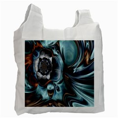 Light Color Floral Grey Recycle Bag (two Side)  by Alisyart