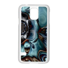 Light Color Floral Grey Samsung Galaxy S5 Case (white)