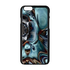 Light Color Floral Grey Apple Iphone 6/6s Black Enamel Case by Alisyart