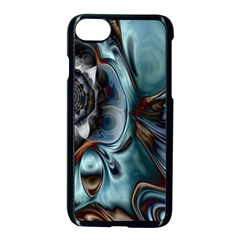 Light Color Floral Grey Apple Iphone 7 Seamless Case (black) by Alisyart