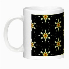 Background For Scrapbooking Or Other With Flower Patterns Night Luminous Mugs by Nexatart