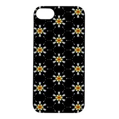 Background For Scrapbooking Or Other With Flower Patterns Apple Iphone 5s/ Se Hardshell Case by Nexatart